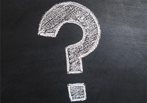 Question mark on chalk board