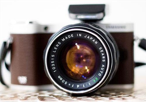 Camera lens view