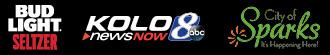 Bud Light Seltzer KOLO News 8 and City of Sparks logos
